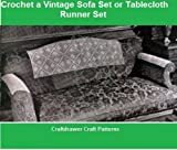 Crochet a Vintage Sofa Set Pattern - Crochet Motif Pattern for Sofa Head and Arm Rests (English Edition)